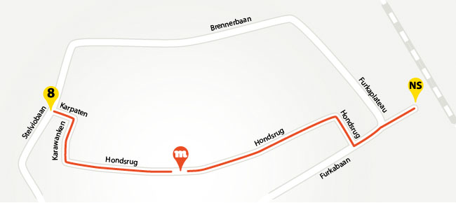 Loop route naar de musketon